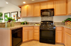 Residential Model Home Kitchen Stock Image