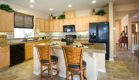 Residential Home Kitchen Stock Photos