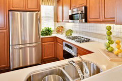 Residential Model Home Kitchen Stock Images