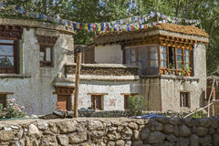 Residential home in Ladakh, India Stock Images