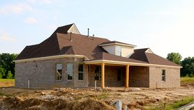 Residential Home Under Construction Royalty Free Stock Images