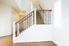 Residential Home with Woodend Floors and Custom Staircase Stock Photo