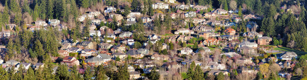 Residential Homes in North American Suburbs Stock Image