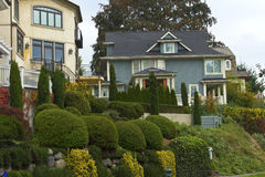 Residential homes in Seattle WA. royalty free stock photo