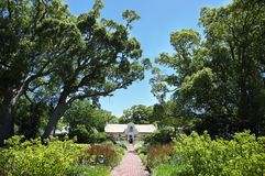 Residential homestead and garden in Vergelegen. SOMERSET WEST, SOUTH AFRICA - DECEMBER 5: Beautiful garden and residential homestead, dating back to the 1700's Royalty Free Stock Images