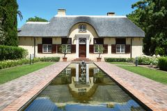 Residential homestead in Vergelegen. SOMERSET WEST, SOUTH AFRICA - DECEMBER 5: Beautiful residential homestead, dating back to the 1700's on december 5, 2014 in Royalty Free Stock Photo