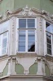 Residential hous detail with window pediment in Graz. Styria, Austria Stock Photo