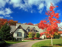 Residential house. In Minneapolis metro area, fall season Royalty Free Stock Photos