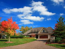 Residential house. In Minneapolis metro area, fall season Royalty Free Stock Photography