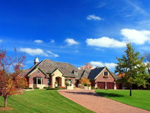 Residential house. In Minneapolis metro area, fall season Royalty Free Stock Photo