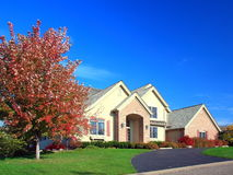 Residential house. In Minneapolis metro area, fall season Stock Image