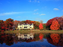 Residential house. In Minneapolis metro area, fall season Royalty Free Stock Image