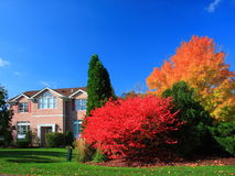 Residential house. In Minneapolis metro area, fall season Stock Photos