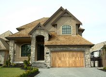 Residential House. New home built in Surrey, BC Stock Photography