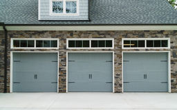 Residential house car garage doors Stock Photography