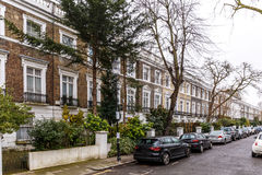 Residential house in Chelsea in winter Royalty Free Stock Photo