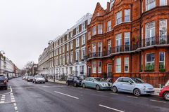 Residential house in Chelsea in winter Royalty Free Stock Image