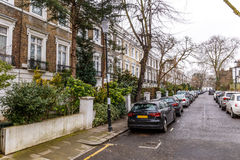 Residential house in Chelsea in winter. London stock images