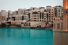 Residential house in Dubai. Modern residential house in Dubai city Stock Photography