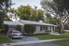 Residential house in Florida. Residential house in Coral Gables, Florida, USA Royalty Free Stock Photos