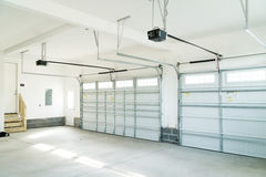 Residential house garage interior stock photo