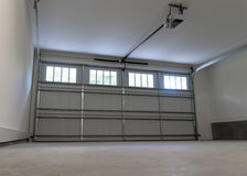 Residential house garage. Residential house two car garage interior Stock Images