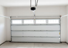 Residential house garage. Residential house two car garage interior Royalty Free Stock Images