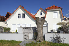 Residential House, Germany, Europe. White Residential House, Germany, Europe Stock Images
