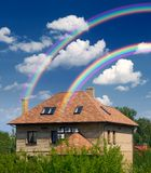 Residential house in harmony with nature Royalty Free Stock Image