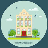Residential house icon Royalty Free Stock Photography