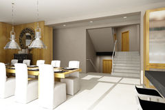 Residential house interior Royalty Free Stock Photo