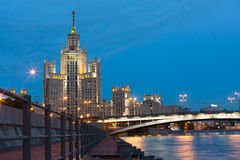Residential house on Kotelnicheskaya Embankment Royalty Free Stock Photo