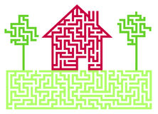 Residential House Labyrinth Stock Photos
