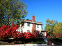 Residential house in Minneapolis. In fall season Royalty Free Stock Image