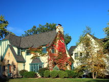 Residential house in Minneapolis. In fall season Stock Images