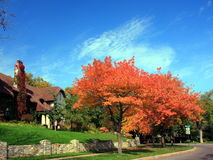 Residential house in Minneapolis. In fall season Royalty Free Stock Photos