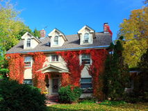 Residential house in Minneapolis. In fall season Royalty Free Stock Photography