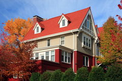 Residential house in Minneapolis. At fall season Royalty Free Stock Photo