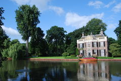 Residential house on the river Stock Photos