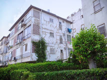 Residential house with shabby side Royalty Free Stock Photography