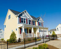 Suburan house. Residential house in suburban area Royalty Free Stock Photography