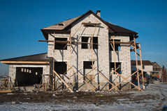Residential house under construction Royalty Free Stock Images