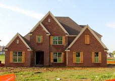 Residential House Under Construction Stock Images