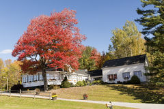 Residential house in Vermont Autumn Stock Image