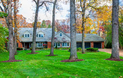 Residential House in Wooded Area Royalty Free Stock Photography