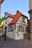 Residential house (XVIII c.) in Riga, Latvia Royalty Free Stock Photos