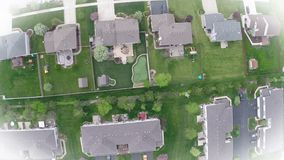 Residential houses from above overhead aerial view Stock Images