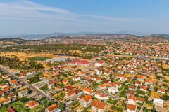 Residential houses aerial view Stock Image
