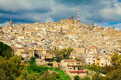 Residential houses in Caltagirone Stock Image