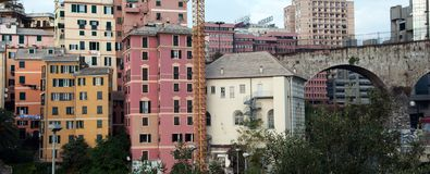 Residential houses in Genoa Royalty Free Stock Photos